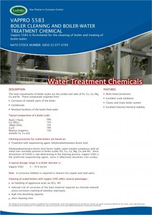 VAPPRO 5583 Boiler Cleaning and Boiler-Water Treatment Chemical