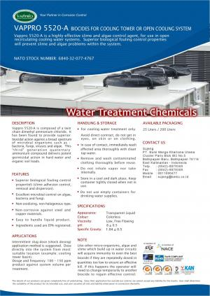 VAPPRO 5520-A Biocides for cooling tower or open cooling system